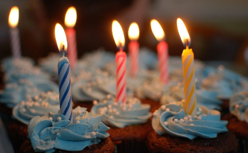 Birthday cupcakes. Image credit: Pixabay user cbaquiran, uploaded using a Creative Commons license.