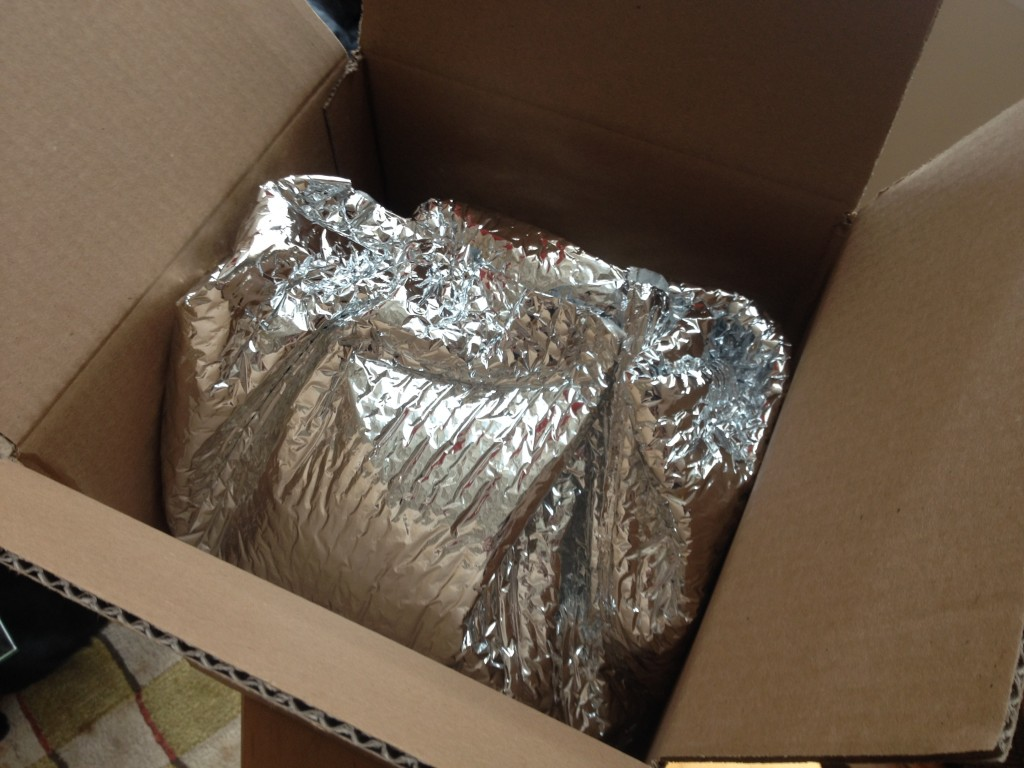 Foil package to wrap the cold ingredients. (Photo: Cori Faklaris)