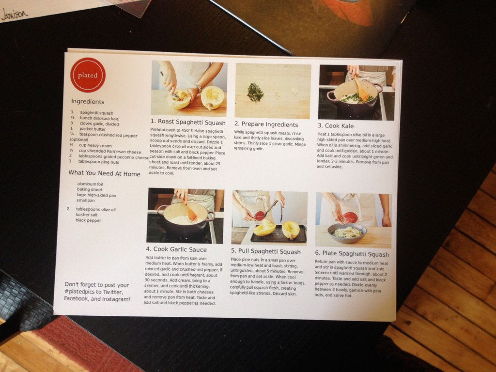 Simple 6-part instructions with photos walk users through the recipes. (Photo: Cori Faklaris)