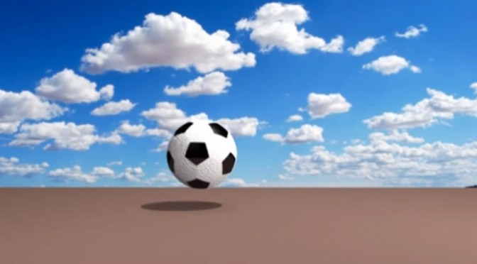 My 3-D soccer ball modeling and animation in Maya 2015