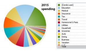 My 2015 spending to date.